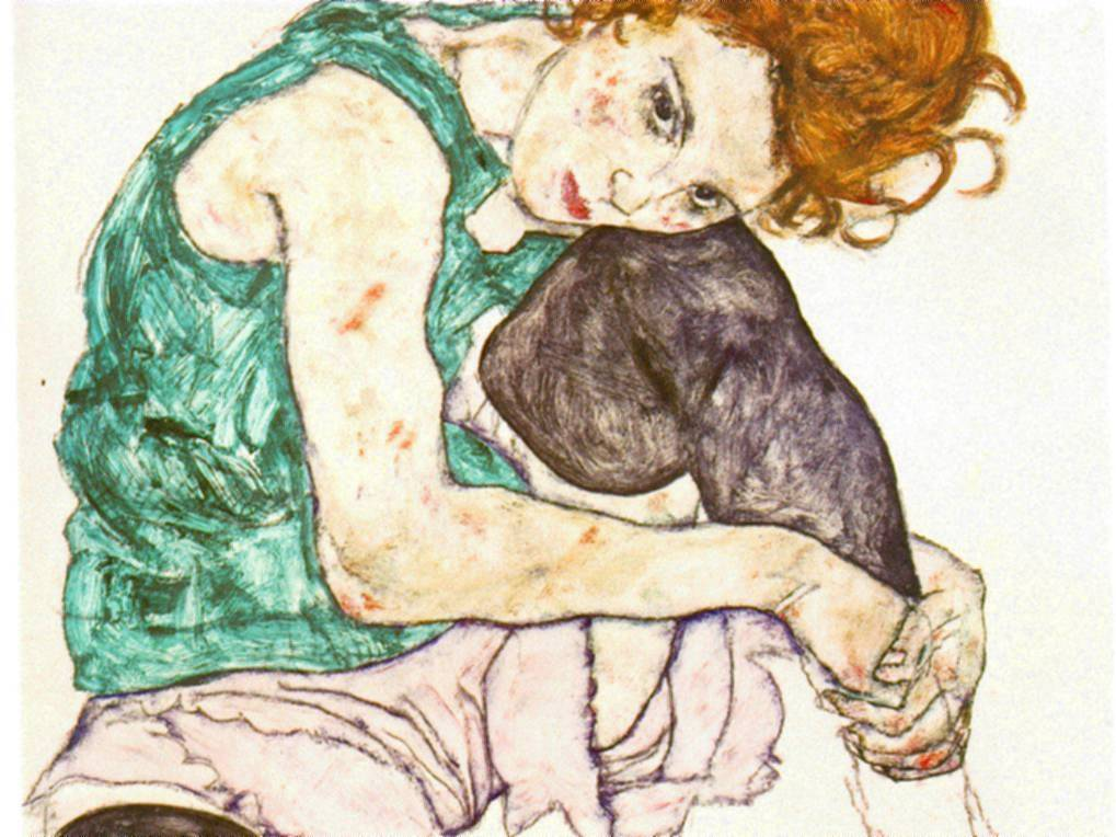 schiele_sitting-woman