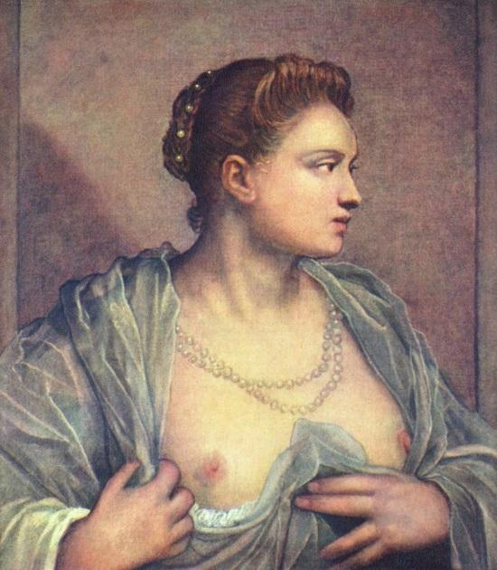 Jacopo_Tintoretto_A Dama que descobre os seios