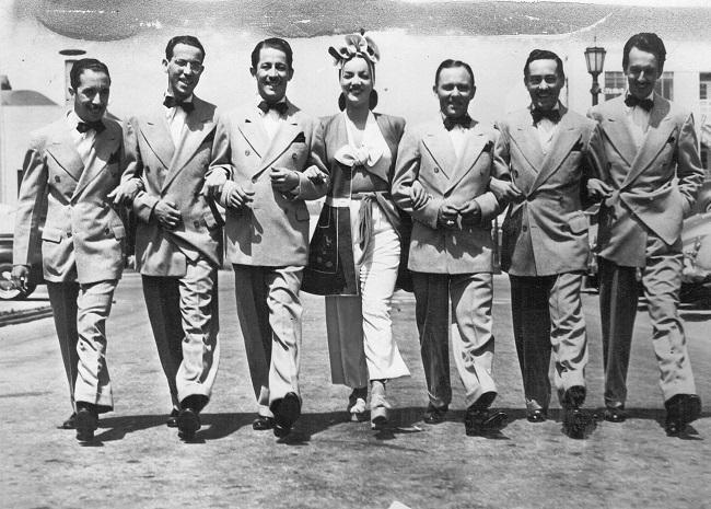 Carmen Miranda com o Bando da Lua em Los Angeles