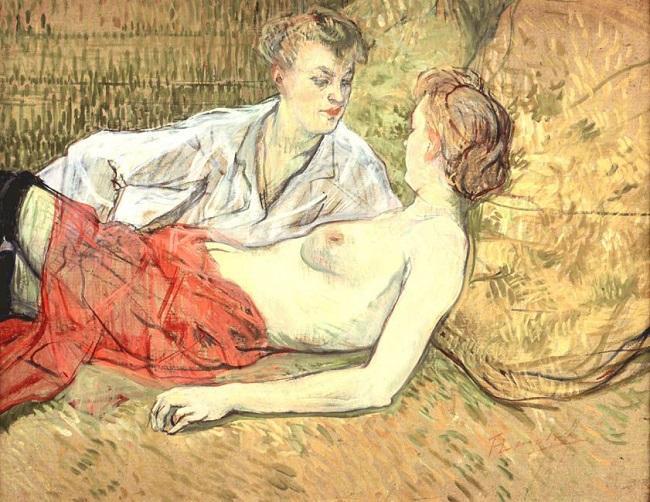 Pintura Dois Amigos de Toulouse-Lautrec