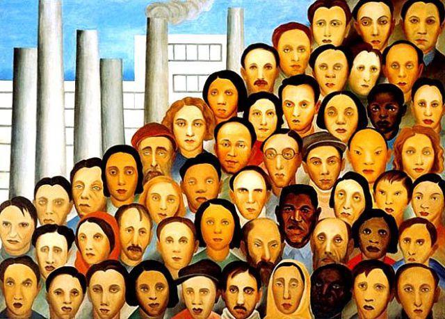 Os Operários, obra de Tarsila do Amaral