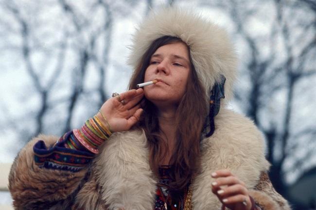 A cantora Janis Joplin viveu a era do sonho hippie