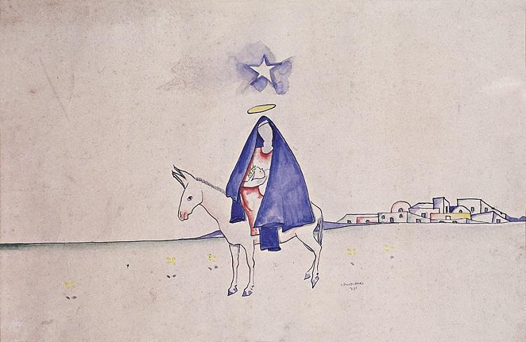 Desenho de Portinari sobre o Natal