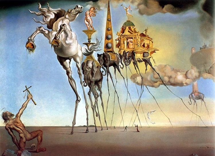 Obra de Salvador Dalí une sonho à realidade