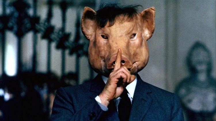 Pocilga, lançado em 69 por Pasolini