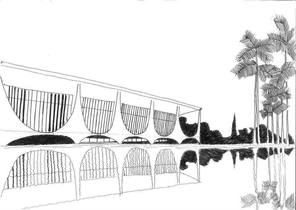Croqui Palácio da Alvorada