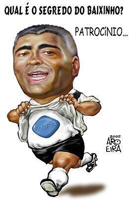 Charge de Renato Aroeira sobre Romário