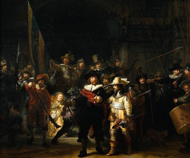 """""""Ronda Noturna"""", obra de Rembrandt"""