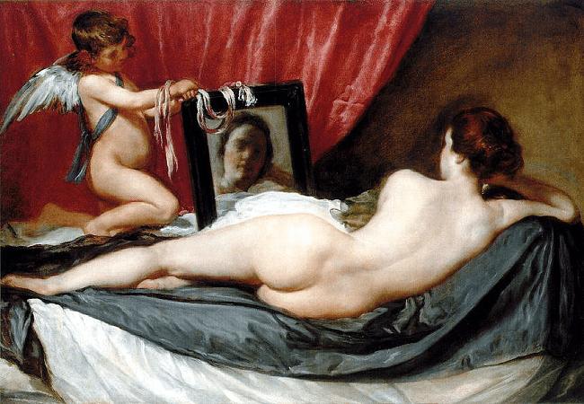 """""""Vênus ao Espelho"""", do pintor espanhol Diego Velázquez"""