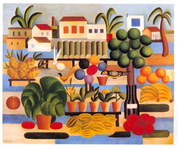 Pintura da modernista brasileira Tarsila do Amaral
