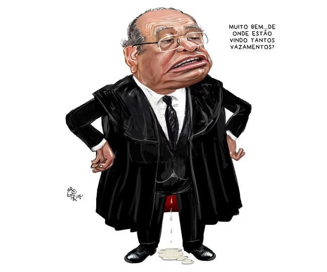 Ministro Gilmar Mendes é alvo de diversas caricaturas