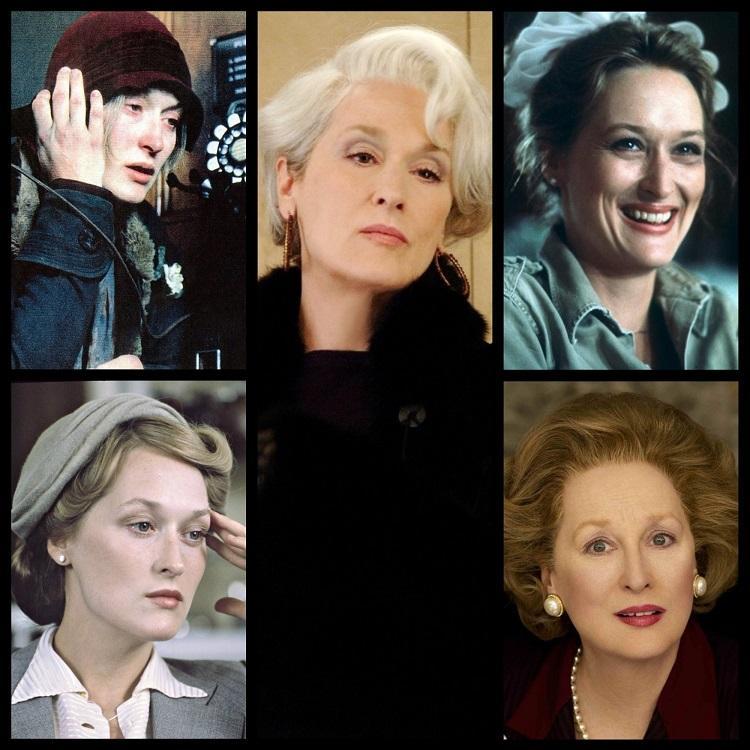 Meryl Streep é recordista de indicações ao Oscar